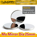 High Quality Mo Mirror Dia. 25mm THK 3mm for CO2 Laser Engraving Cutting Machine Pack of 3 Pcs