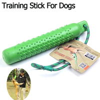 Training Stick For Large Dogs Pet Rubber Durable Interactive Squeaky Dog Chewing Toys Bite Resistant Pet Products Petshop Toys