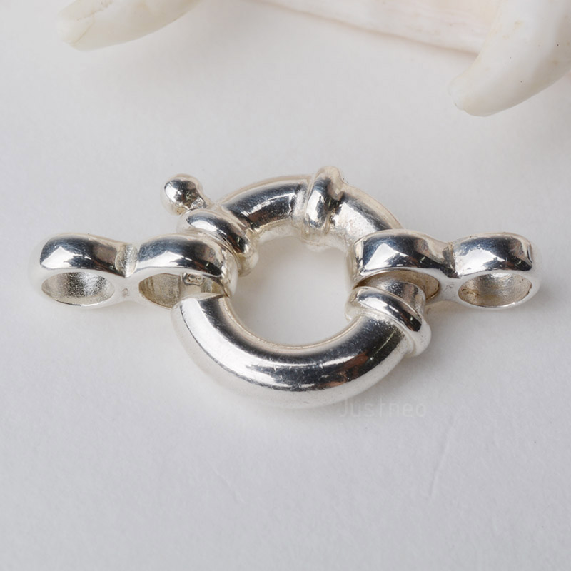 5x-7mm Solid Sterling Silver Bolt Ring Clasp Closed Heavy-Findings-Spring Ring