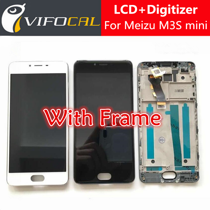 ФОТО Meizu M3S mini LCD Display + Touch Screen With Frame High Quality HD Digitizer Assembly Replacement For 5.0