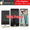 """Meizu m3s mini display lcd + pantalla táctil con el marco de alta calidad hd reemplazo asamblea del digitizador para 5.0 """"Teléfono móvil"""