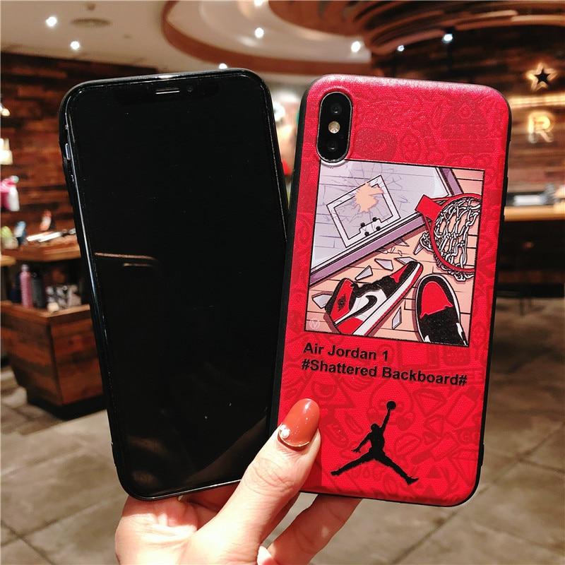 KEFO Ultra Thin Michael Jordan TPU Soft Case For Iphone X 10 5S SE 6 6S 7 8 Plus Fashion Sport NBA Star Flyman Jordan Back Cover (10)