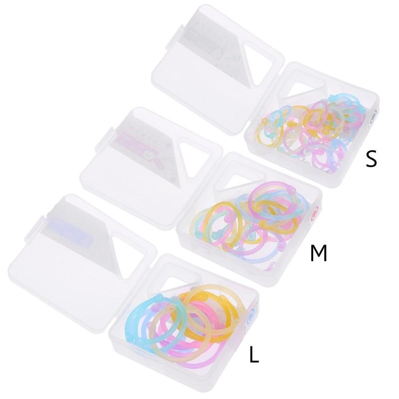 OOTDTY High Quality Binder Ring Creative Plastic Multifunction Circle DIY Album Loose Leaf Book Binder Hoop Ring