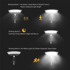 Image 5 - UFO Luz LED Solar de 360 ° para exteriores, iluminación ajustable de 80 °, 3 modos, móvil sin cables, Sensor de luz, lámpara de pared de seguridad impermeable