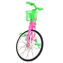 Plastic Green  Detachable Bike Toy Bicycle With Basket For Barbie Doll Great Gift Toys For Children Hot Selling