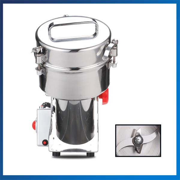 220v50hz Moulin Concasseur Broyeur Poudre Machine 1000g Grande Capacité Ménage Ultrafine Sec Alimentaire Broyage Machine