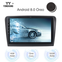 10.2 Car Radio GPS Android 8.0/7.1 for Skoda Superb Multimedia 2008 2009 2010 2011 2012 Built in WIFI Blueteeth RDS 4G LTE