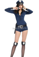 O Envio gratuito de 2016!!!! novo Estilo Sexy Adulto Halloween Traje Uniforme Policial Maravilhoso Mulheres Partido Do Traje