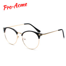 2c73faa298 Pro Acme Women Retro Cat Eye Glasses Frame Optical Prescription Glasses  Transparent Lens Frames lentes opticos mujer CC1159