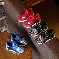 Children Shoes высокое качество мягкие Кроссовки Осень Мультфильм Спорт Мода Мальчики baby Shoes Человек-Паук Дети скольжению дышащая