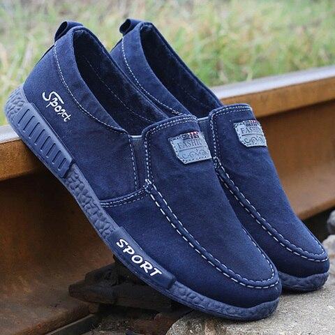Men Vulcanize Shoes Comfort Men Shoes Male Shoes Adult Footwear Denim Canvas Shoes Men Loafers New Men Sneakers Chaussure Homme Lahore
