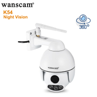 Wanscam K54 Outdoor 1080P WiFi IP Camera IR 50M Night Vision FHD Face Auto Tracking PTZ Pan Tilt 4X Zoom Two Way Audio CCTV Cam