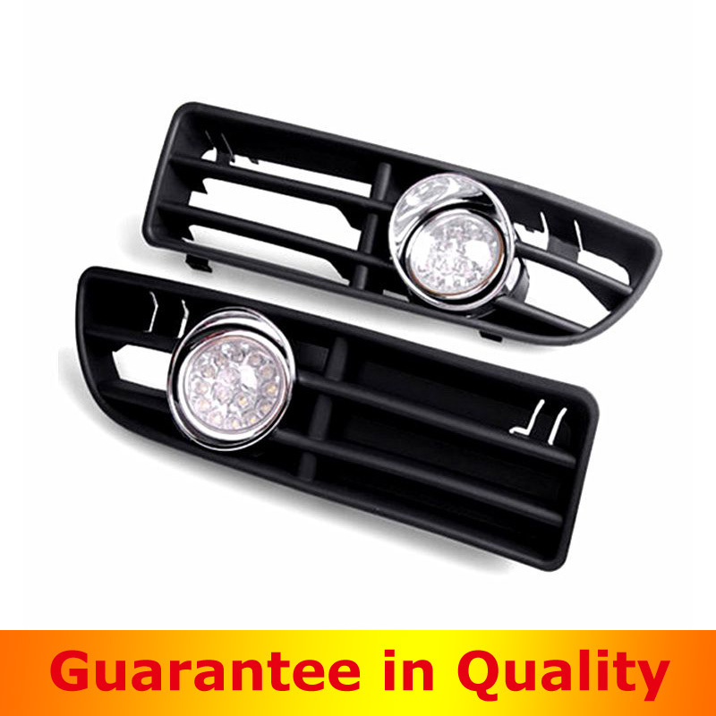 ФОТО For VW  1999-2004 Jetta Bora Mk4 LED light bulb fog light lamp front bumper grill grille