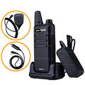 Mini Walkie Talkie NKTECH NK-U1 VS WLN KD-C1 UHF 400-470 MHz 5 W 16 Canais Handheld Ham Transceiver Two-way Radio + Cabo + mic