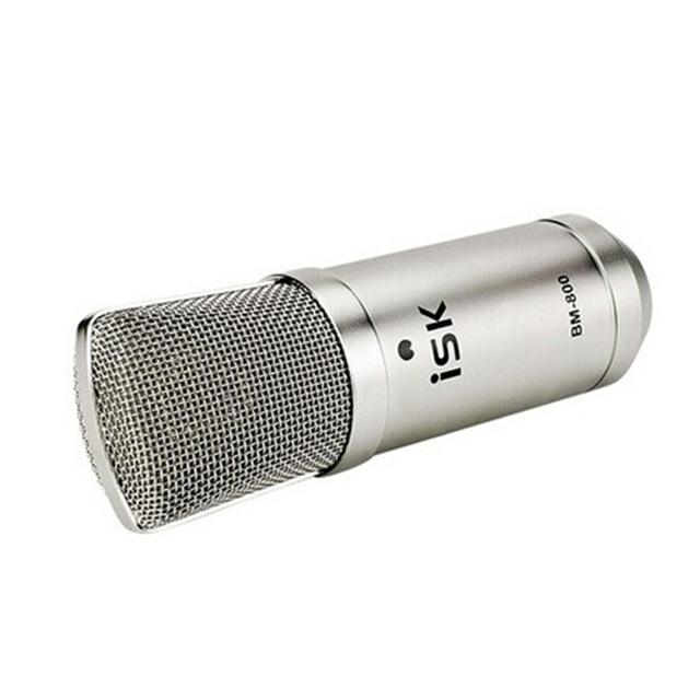 Original ISK BM-800 Studio Condenser Microphone Professional Recording Mike music create broadcast capacitor microphone