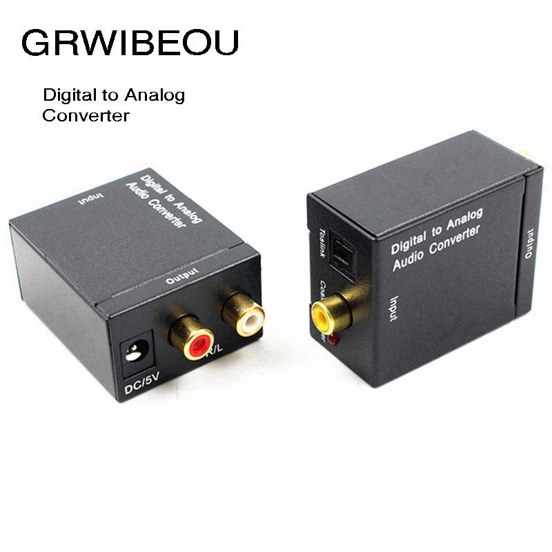 Unterhaltungselektronik Tragbares Audio & Video Optische Toslink/koaxial Digital Zu Analog Rca L/r Stereo Audio Converter Adapter Für Verstärker Lautsprecher Kopfhörer