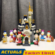 Friends Bricks Disneying Castle Mickey Mouse Donald Duck Figures Building Blocks for Classic Toys Bricks(China)