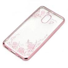 Para meizu pro 5 pro 6 flora diamond case para meizu Pro5 Pro6 Chic Flower Bling Macio TPU Limpar Telefone Capa