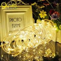 3 9ft 100LED Solar String Fairy Lights Premium Quality Solar Rope Tube Led String Strip Outdoor