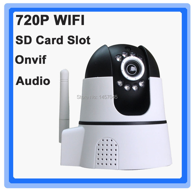 US $76 8 | Free app android ios wifi 720p camera with WPS,zoom, IR  CUTwireless alarm system and free cloud storage to push notification-in