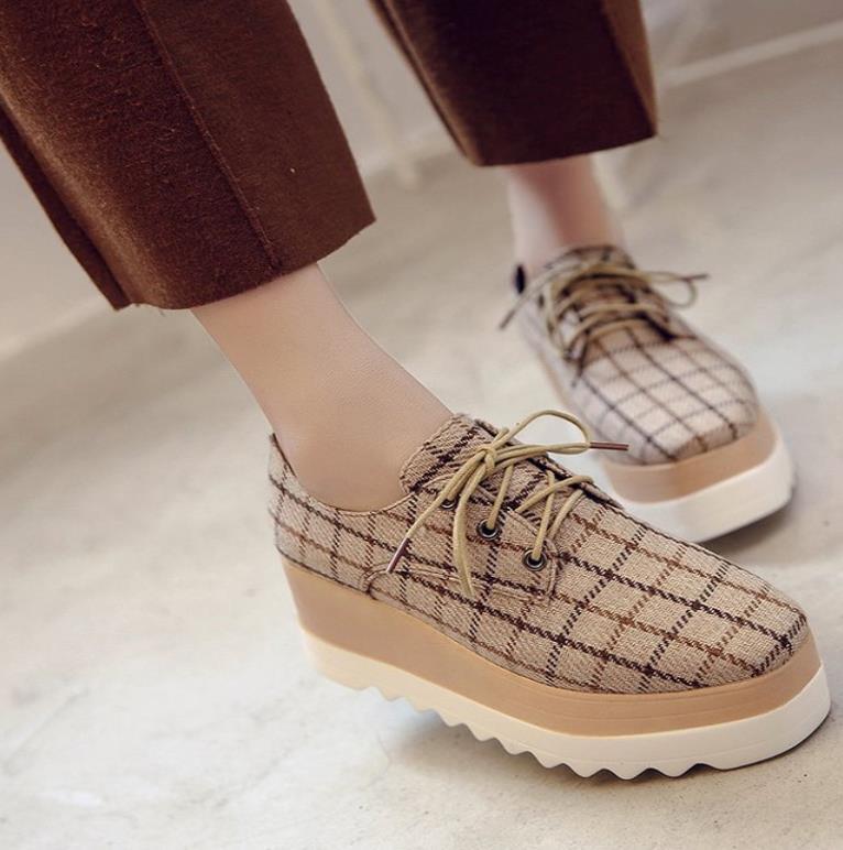 55c59904500676 Весна 2019 Европа станция полоса Проверено Новая женская обувь go с обувь на  платформе склон пятки