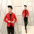 2017 Metrosexual new coat suits small Korean cultivating night wedding red suit X040 P85
