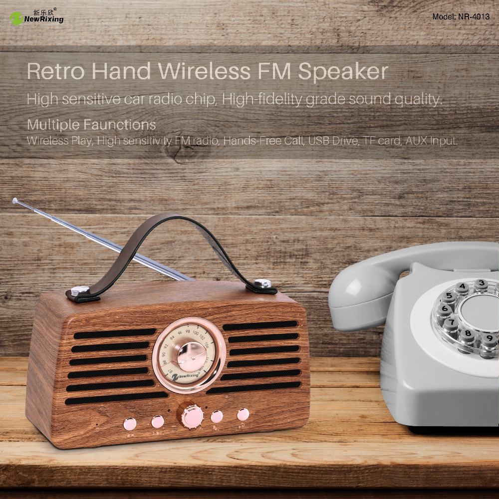 Newrixing Nr4013 Altavoz Bluetooth Speaker Colunas Hifi Tf Usb Soundbar Portable Speaker Con Radio Unattended Column For Phone Portable Speakers Aliexpress