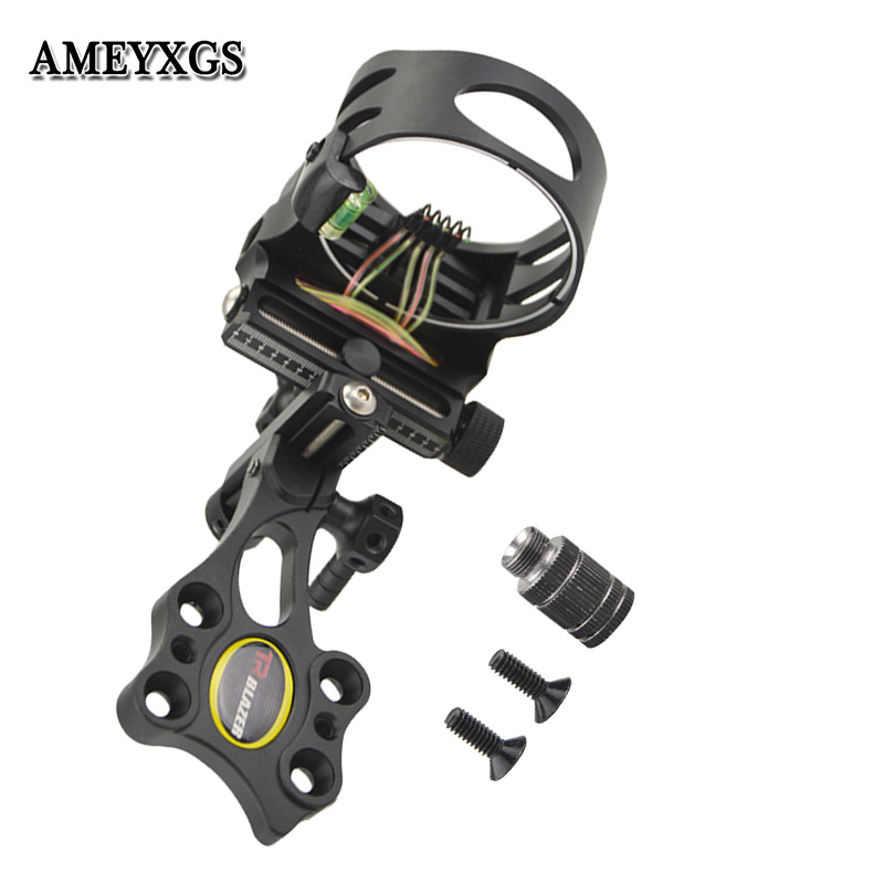 Archery Compound Bow 5Pin Sight CNC Aluminum Adjustable Bow Sights Camping Practicing Shooting Hunting Bow And Arrow Accessories-in Bow & Arrow from Sports & Entertainment
