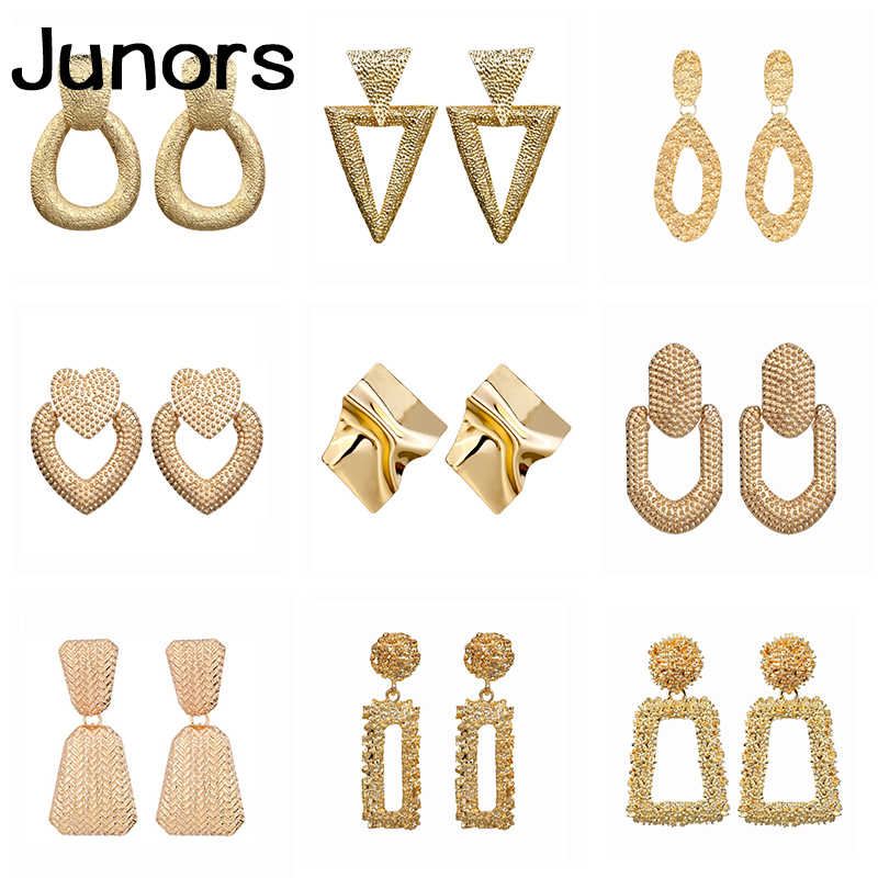 vintage big earrings female 2019 gold metal geometric statement earrings hanging for women Wedding Party fashion jewelry gifts