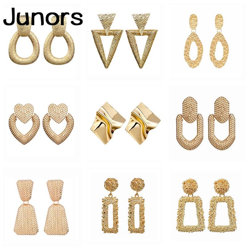 Vintage Big Earrings Female 2019 Gold Metal Geometric Statement Earrings Hanging For Women Wedding Party Fashion Jewelry Gifts Drop Earrings Aliexpress