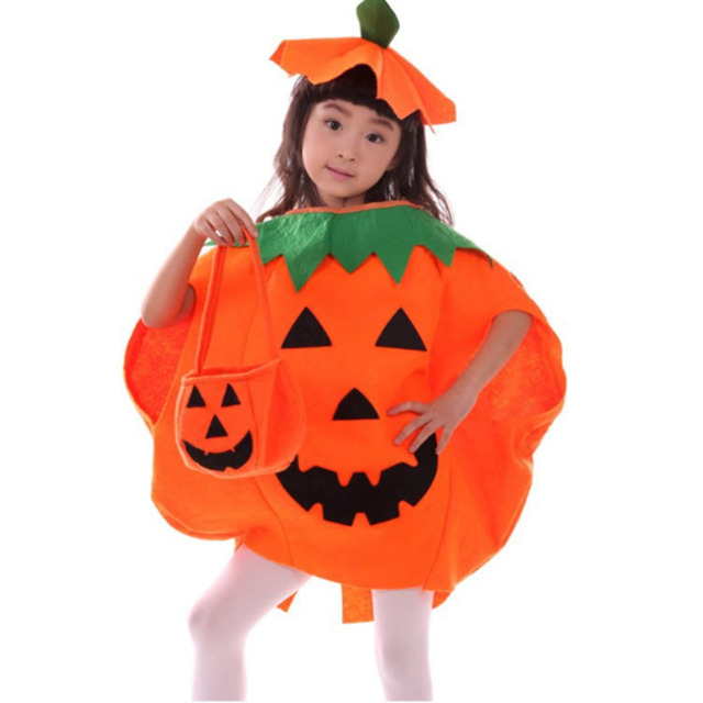 893744aa32f3 Halloween Pumpkin Clothing Child Baby Clothes Masquerade Cosplay ...