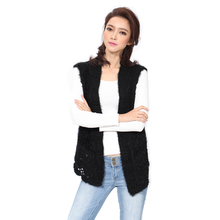 Knitted Vest Women's Sleeveless Vests Casual Style Open Stitch Flat Knitting Sweater Pattern Clothes Plus Size Hot Sale