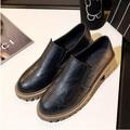 ГОРЯЧИЕ ПРОДАТЬ весна винтаж твердые оксфорд обувь для женщин мода 3 цвета туфли на платформе женщины creepers женские квартиры обувь