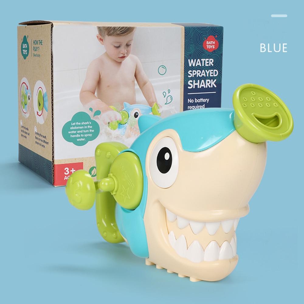 Прочные игрушки для мытья рук, Пластиковые Игрушки для ванны акулы, подарок, Прямая - Цвет: Shark