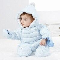2019 Autumn Winter Baby Romper Baby Boy Girl Romper Winter Warm Kids Jumpsuit Clothes Fleece Warm Baby Infant Clothes 0 12M