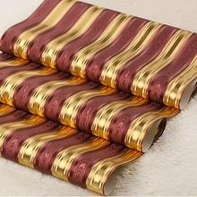 Современная роскошь золота полосатый обои ПВХ водонепроницаемый светоотражающие фон обои для стен гостиной спальни обоями