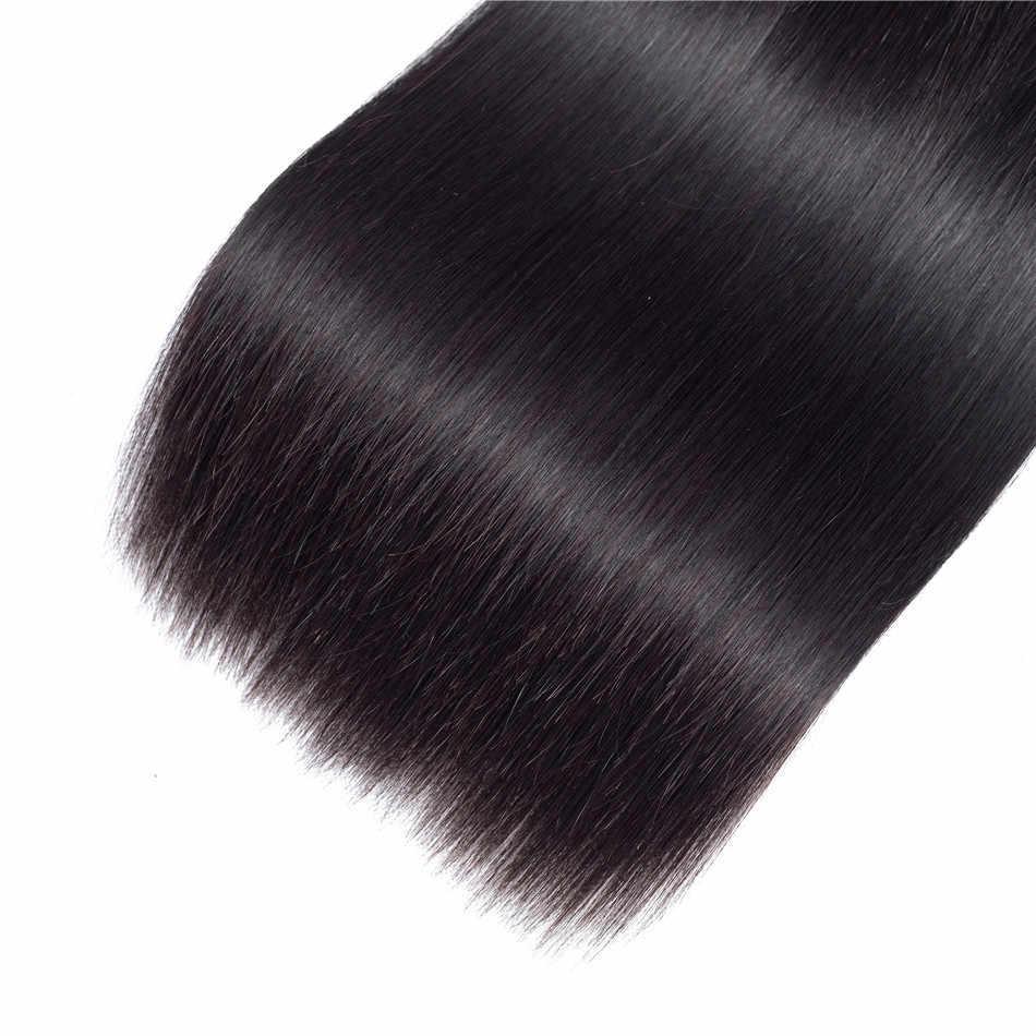 Ariel Braziliaanse Steil Haar Bundels 4 stks/partij Natuurlijke Kleur 8-28 inch 100% Human Hair Weave Bundels Niet- remy Hair Extensions