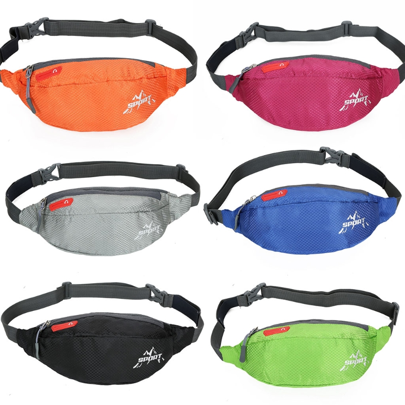 Fashion New Design Unisex Women Men Nylon Activities Bag Solid Waist Belt Pack Phone Bag Pouch High Quality