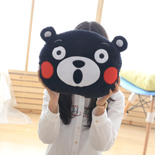 Anime Kumamoto Famous Mascot KUMAMON Bear Plush Round Pillow Doll Gift For Kid Birthday Gift Kumamon