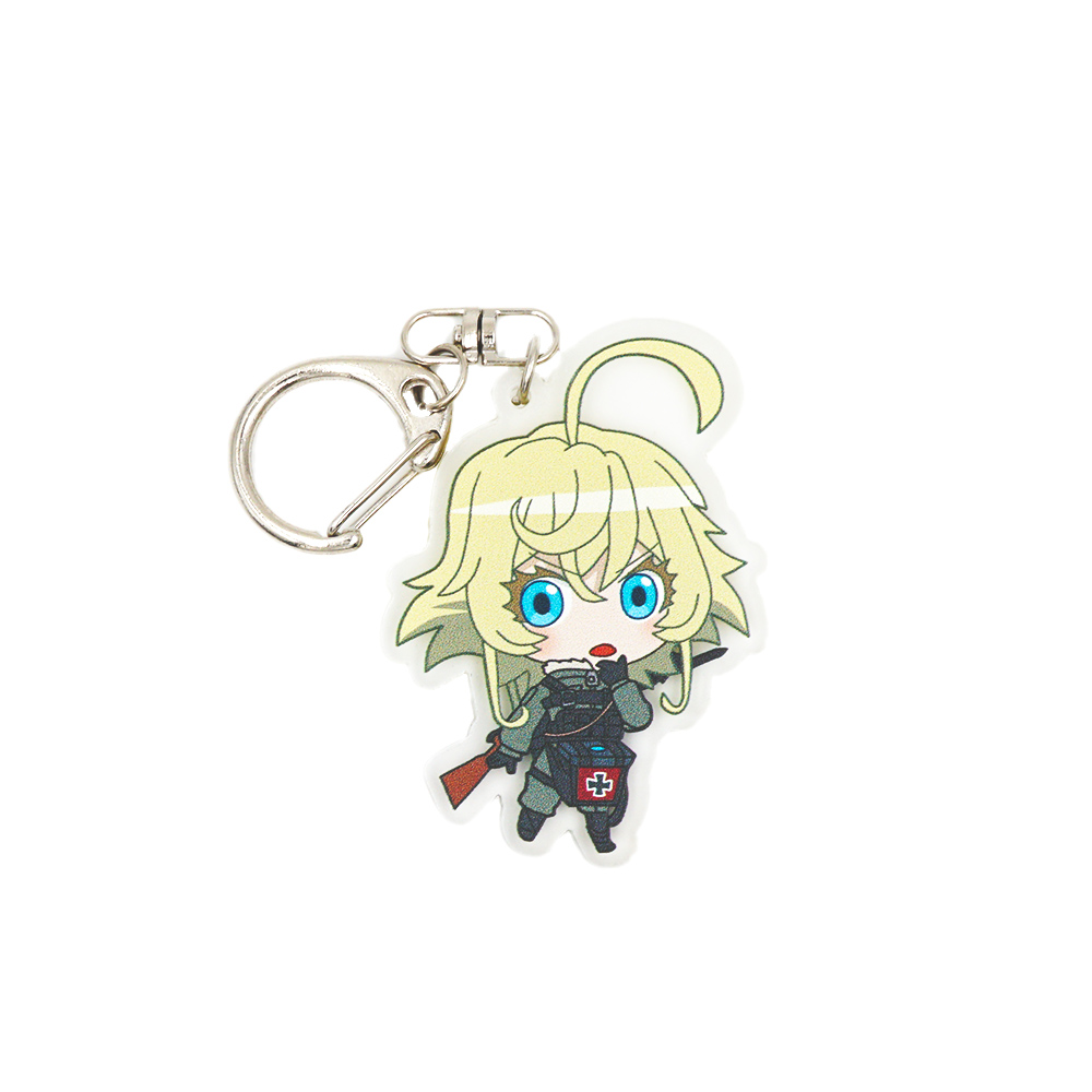 Saga of Tanya the Evil Anime Tanya Von Degurechaff Double Sided Acrylic Keychain 90cc cylinder body kit