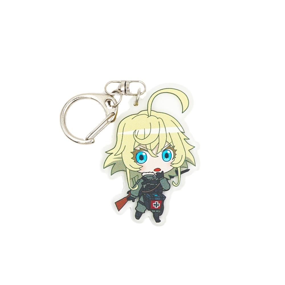 Saga of Tanya the Evil Anime Tanya Von Degurechaff Double Sided Acrylic Keychain(China)
