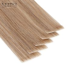 "Neitsi Straight PU Skin Weft Hand Tied Tape In Adhesives Remy Human Hair Extensions 16"" 20"" 24"" 20pcs/40pcs FedEx Fast Shipping(China)"