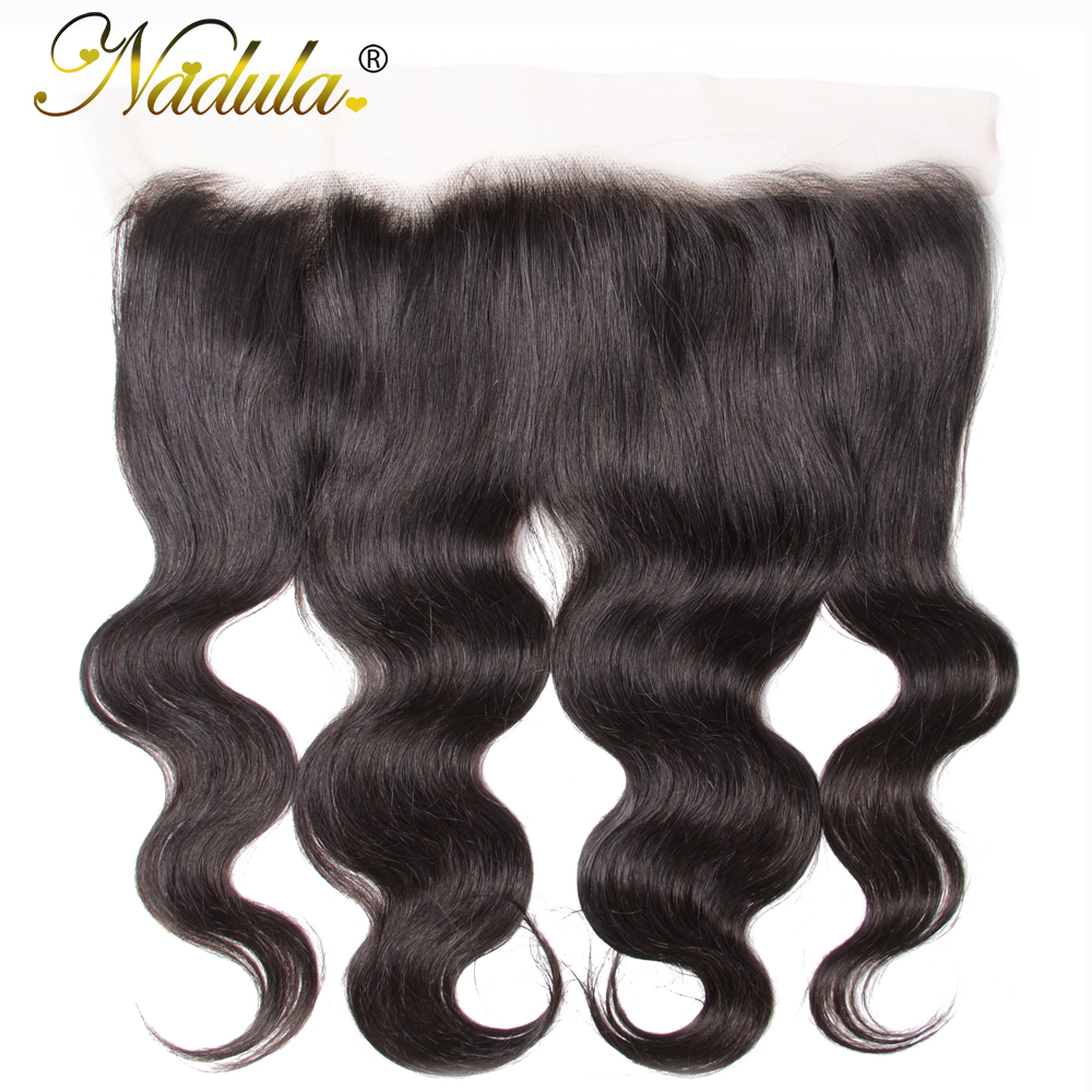 Nadula Hair Brazilian Body Wave Lace Frontal 13 4 Swice Lace 10 20inch Remy Hair 100