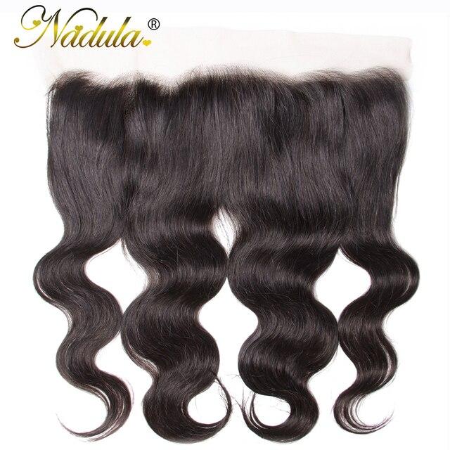 $ US $51.06 Nadula Hair Brazilian Body Wave Lace Frontal 13*4 Swice Lace 10-20inch Remy Hair 100% Human Hair Weave Shipping Free