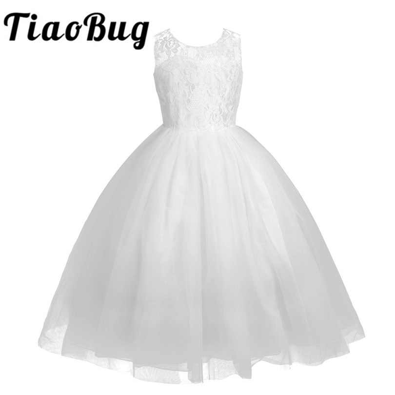 2018 New Arrival Lace Bridesmaid Dresses Real Party Pageant Dress for Wedding White Little Girls Kids First Holy Communion Dress