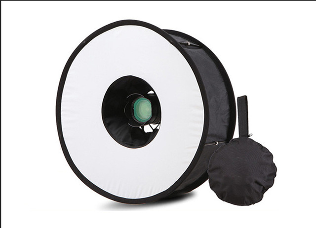 R-45 anillo Softbox Flash estilo redondo luz de Flash disparar caja suave plegable Flash difusor de luz
