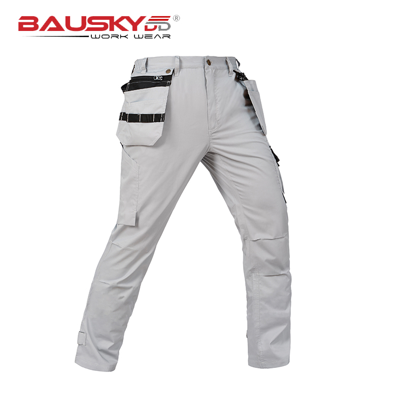 New arrival Men's summer light weight thin cargo work pants  multi pocket grey work trousers free shipping inc women s multi pocket glow pants 16w sky grey