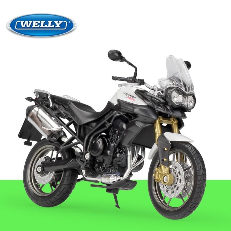 Welly triumph tiger 800 diecast motocicleta 118