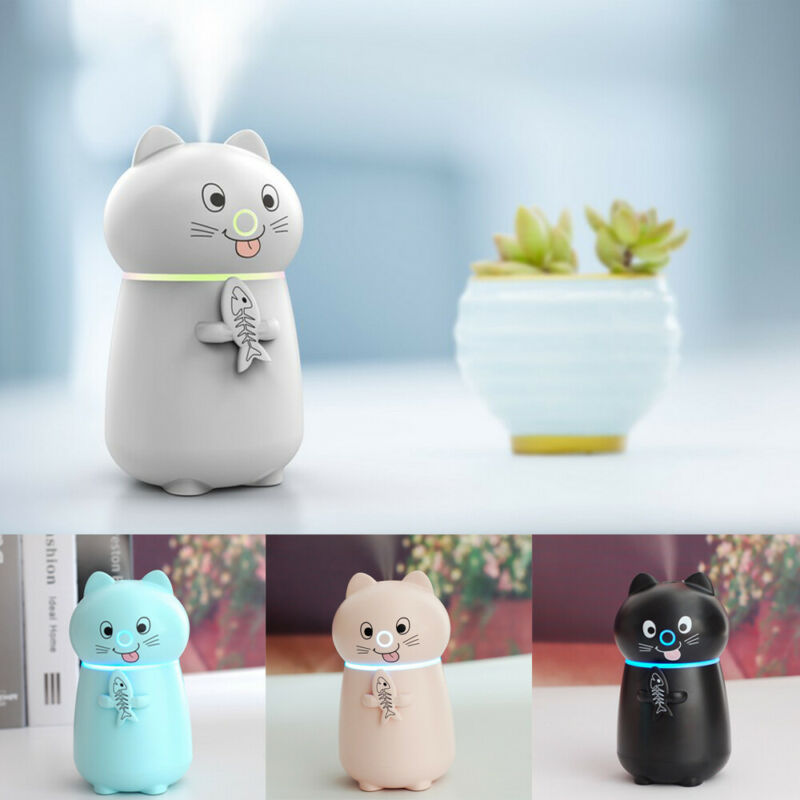 Mini USB Air Diffuser Aroma Oil Humidifier Night Light Up Home Relaxing Defuser