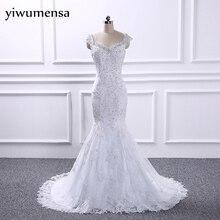 yiwumensa Wedding dress 2017 plus size Ball Gown Wedding Dresses vestidos de noiva robe de mariage beads mermaid bridal gowns